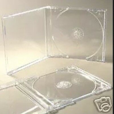 25 Cd Jewel Cases Complete With Clear Trays *brand New* • 5.49£