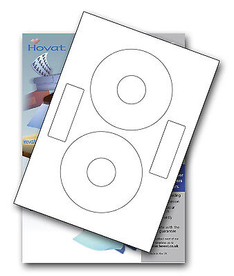 100 Hovat CD DVD Labels Matt Inline Neato Style • 6.49£