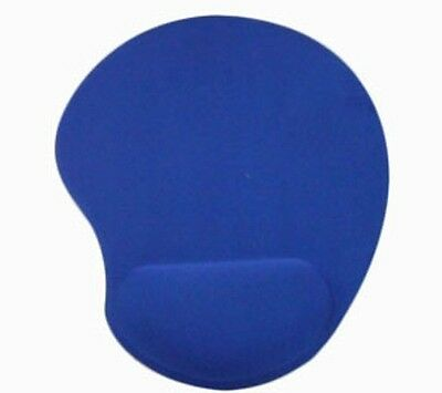 Blue Anti-slip Mouse Mat Pad With Wrist Support Pc & Laptop ~uk Seller~ • 1.99£