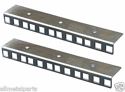 PAIR OF 4U ZINC PLATED RACK MOUNT STRIPS  CLEAR PASSIVATE FINISH  19  Profile • 8.40£
