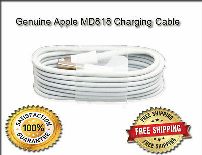 Genuine Apple Charger USB Data Cable Charge Sync Lead IPad 4 & IPhone 5s,6,7,8,X • 9.99£