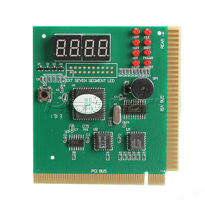 PC Motherboard Diagnostic Card 4-Digit PCI/ISA POST Code Analyzer • 3.34£