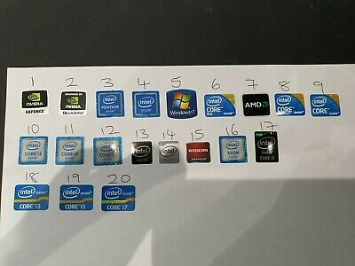60 X  WINDOWS 7 I3 I5 Intel Nvidia AMD STICKER LOGO BADGE DECAL  • 14.97£