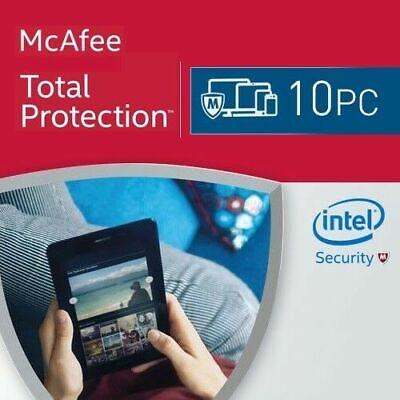 McAfee Total Protection 10 Devices 2020 1 Year MAC,Win,Android 2021 UK • 10.50£