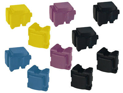 Full Set Of Xerox 8570 / 8580 Compatible ColorQube Solid Inks (10 Sticks) • 124.99£