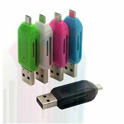 All In 1 USB Memory Card Reader Micro USB OTG To USB 2.0 Adapter SD/Micro SD • 1.98£