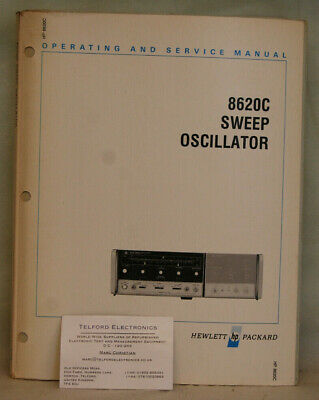 HP8620C Sweep Oscillator Operating & Service  • 35£