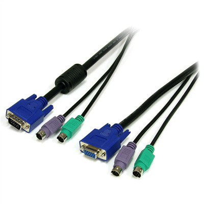 Startech 6 Ft 3-in-1 PS/2 KVM Cable • 9.35£