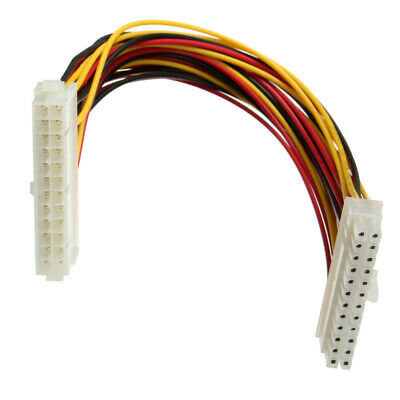 ATX Extension Cable Lead 24 Pin Male To 24 Pin Female Internal PC PSU Power 27cm • 2.85£