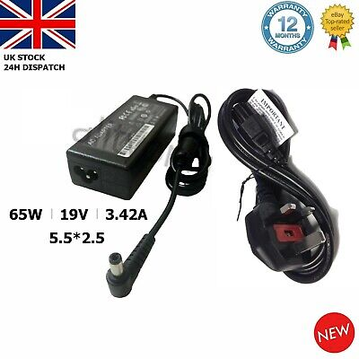 19V 3.42A FOR TOSHIBA Satellite C55 C50 C70 C75 L450 C660 Laptop Charger Adapter • 9.93£
