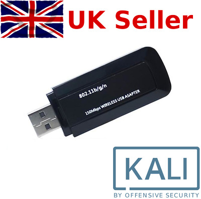 USB WiFi Adapter Kali Linux Backtrack Compatible Hacking Wireless Networks • 11.99£