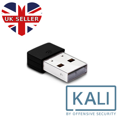 USB WiFi Dongle Kali Linux Compatible Hacking Wireless Networks Compact Size • 8.99£