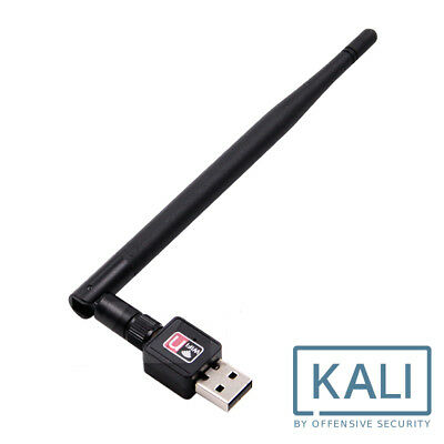 USB WiFi Adapter Kali Linux / Aircrack Compatible Hack WiFi Network 5dBi Antenna • 12.99£