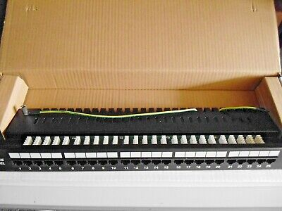 Sterling 25 Port Voice Patch Panel - Black • 11.95£