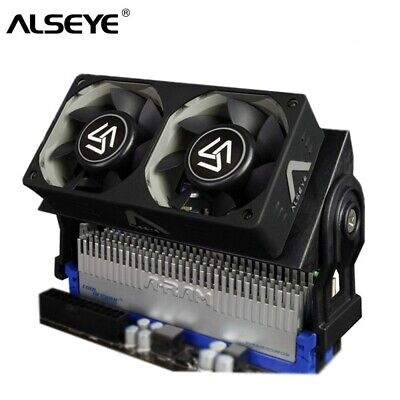 ALSEYE RAM Cooler Cooling Fan For Computer DDR Memory Cooler With Dual 60mm Fan • 24.74£