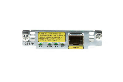 USED Cisco HWIC-1GE-SFP 1 SFP Port Gigabit Ethernet HighSpeed WAN Interface Card • 203.67£