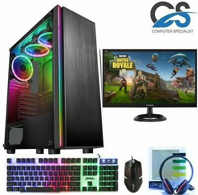 ULTRA FAST I3 I5 I7 Desktop Gaming Computer PC 2TB 16GB RAM GTX 1660 Windows 10 • 229.99£