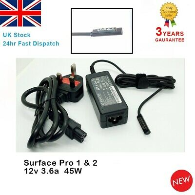 For Microsoft Surface Pro 1 & 2 RT 1601 1631 1536 Windows 8/10 Adapter Charger • 10.82£