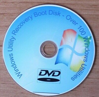 Windows 7 8 10 PC Laptop Recovery Restore Fix Repair Utility Boot Disc FREE P&P • 1.69£