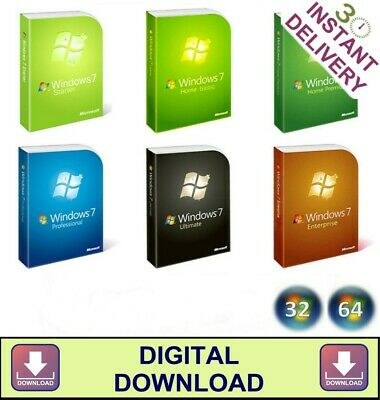 WINDOWS 7 32 64 INSTALL ALL VERSIONS HOME PROFESSIONAL ULTIMATE ISO Download • 1.49£