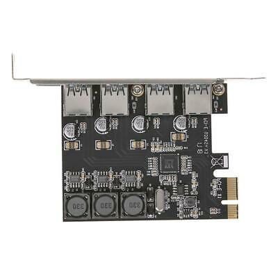 USB Cards 4 Ports 5Gbps PCI-E To USB3.0 PCI-Express Controller Card Adapter • 9.04£