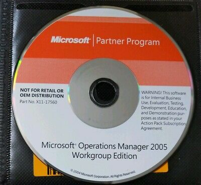 Microsoft Operations Manager 2005 Workgroup Edition Partner Program Disc & Key • 19.99£