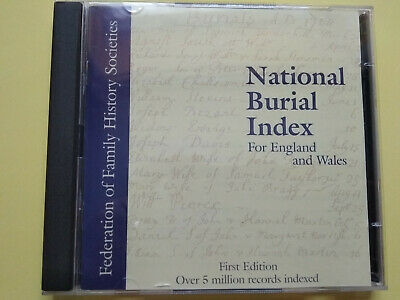 National Burial Index, 1st Edition, From Federation Of Family History Societies • 5.50£