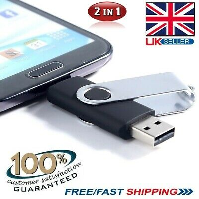 512gb 2 In 1 OTG USB 2.0 Flash Drive Memory Thumb Stick PC/Mac/Samsung/Android • 9.99£