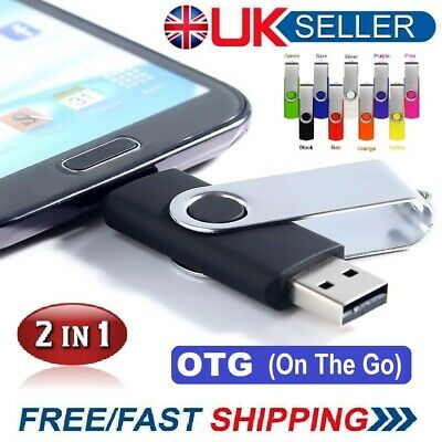 2 In1 USB 2.0 Memory Stick Flash Thumb Drive PC/Android/Samsung 32/64/128/256gb • 5.99£