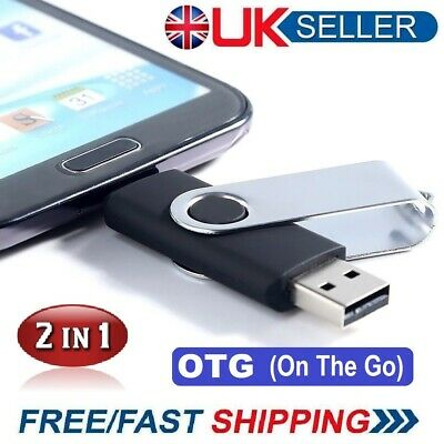 1TB = 1000GB 2TB = 2000GB 2in1 OTG USB Memory Stick Flash Thumb Pen Key Drive • 12.99£