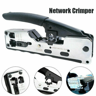 New Metal Rj45 Crimping Tool Network Wire Plier Crimper For Cat7 Cat6 Cat A4N9 Z • 12.59£