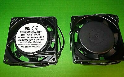 Fan 230 Volt 80mm Fans AC Mains Cooling FP108AX/230VS1WB Ball 80 X80x 25mm X1pc  • 3.75£