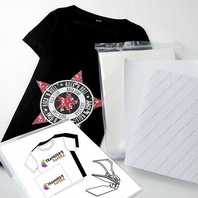 Inkjet Printable Easy Iron On Heat Transfer Paper - T-shirts Hoodies Cap Clothes • 11.99£