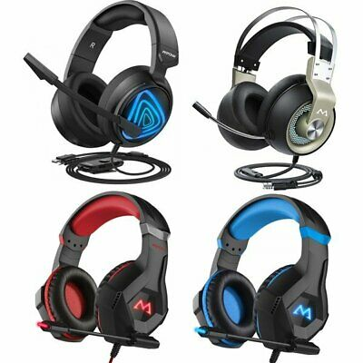 MPOW 3.5mm Gaming Headset LED Stereo Headphones For PS4 Xbox One Nintendo Switch • 26.69£