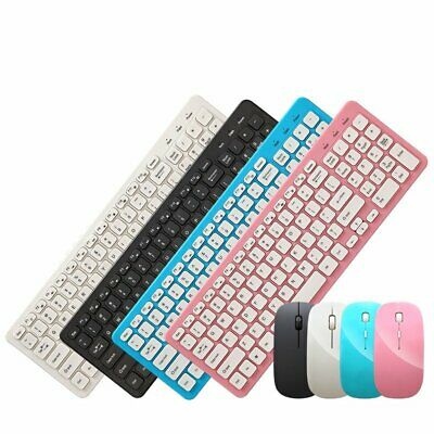 UltraSlim 2.4GHz Wireless Keyboard And Mouse Set For Gamer PC Laptop Desktop MAC • 18.19£