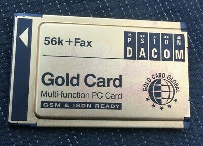 VINTAGE PSION GOLD PCMCIA CARD - 56k +FAX FROM 1990'S • 5.99£