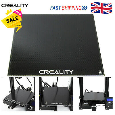 Creality 3D Ender 3 Ultrabase Self-adhesive Glass Plate Heat Bed Board 235x235mm • 12.49£