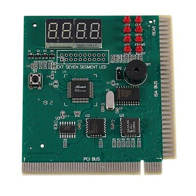 10X(PC Motherboard Diagnostic Card 4-Digit PCI/ISA POST Code Analyzer H4S1) • 37.99£