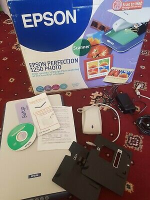 Epson Perfection 1250 PHOTO Scanner - With Kit For Scanning Slides And Negatives • 39.95£