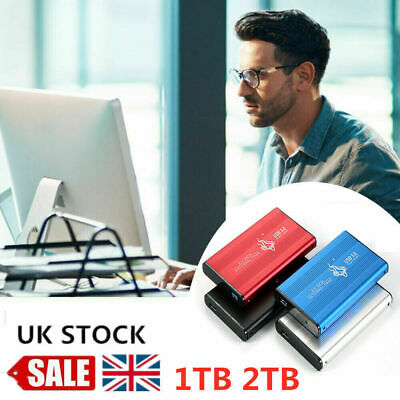 UK 2.5'' USB 3.0 2TB External Hard Drive Disk HDD Fit For PC Laptop Portable • 30.99£