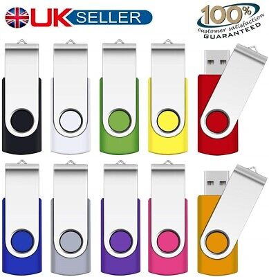 USB 2.0 1/2/4/8/16/32GB Memory Stick Flash Pen Thumb Drive PC/Mac/Audio/Video • 6.49£
