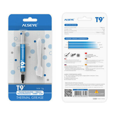 ALSEYE Thermal Paste T9+ High Performance Arctic Cooling Compound For PC Or PS4 • 5.99£