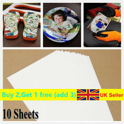 UK~10x A4 Heat Transfer Iron-On Paper For DIY Light & Dark Fabric Cloth T-shirt • 3.32£