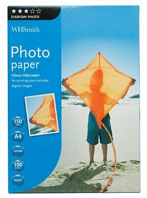 WHSmith A4 Inkjet Everyday Glossy Photo Paper 100 Sheets 150 Gsm • 11.24£