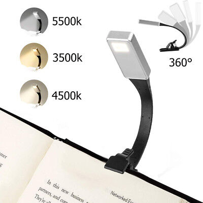 USB Rechargeable Clip On Book Light LED Flexible Reading Lamp Bright For Reader • 7.99£