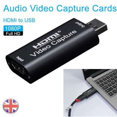 UK HDMI To USB Video Capture Card 1080P For Game / Live Streaming Portable • 8.36£