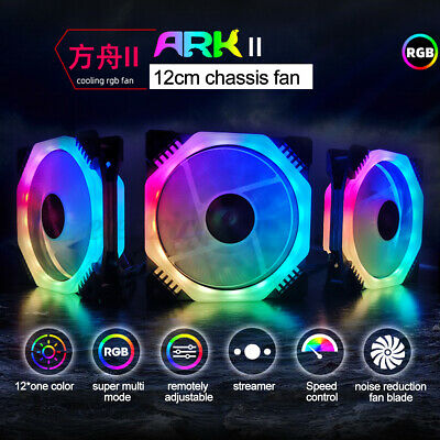 4 Pack 120mm RGB LED Silent Computer Case PC Cooling Fan W/ 1 Remote Control • 22.59£