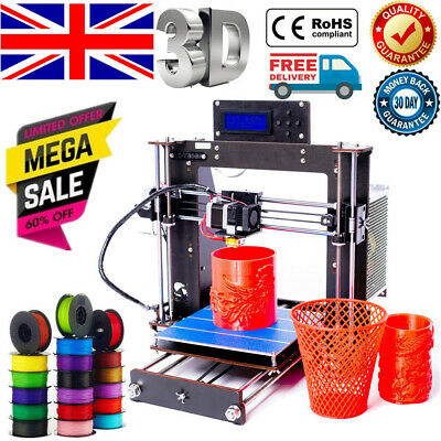 2020 Prusa I3 3D Printer DIY Kit MK8 Extruder,MK3 Heatbed,Large Structure Size • 79£