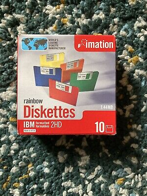 Imation - Diskette 3.5 Dshd 10Pk Rainbow • 30£