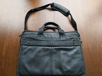 Dell Laptop Bag Black Leather Used • 8£